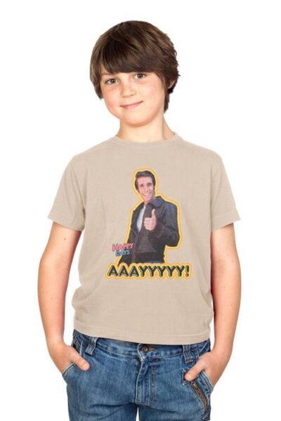 Happy Days AAAYYYYY! Fonzie Youth Sand T-shirt