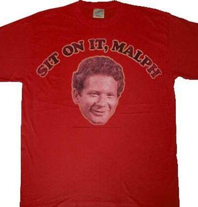 Happy Days Sit On It Malph Red T-shirt