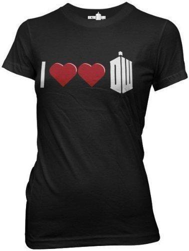 I Double Heart Dr. Who JuniorsT-Shirt