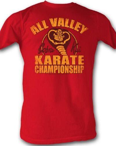 Karate Kid All Valley Karate Championship Cobra Kai Adult Red