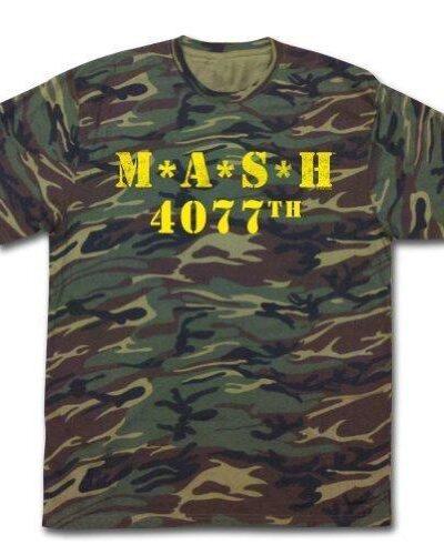 MASH 4077th Camouflage Yellow Print T-Shirt