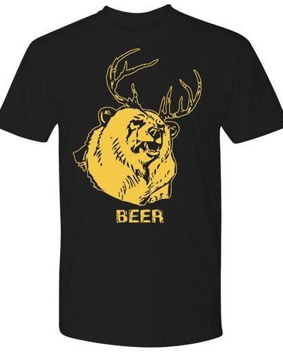 Mac's Bear Deer Beer Black T-shirt