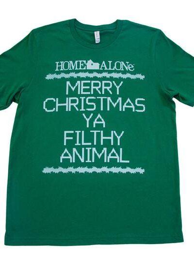 NEW Home Alone Merry Christmas Ya Filthy Animal T-shirt