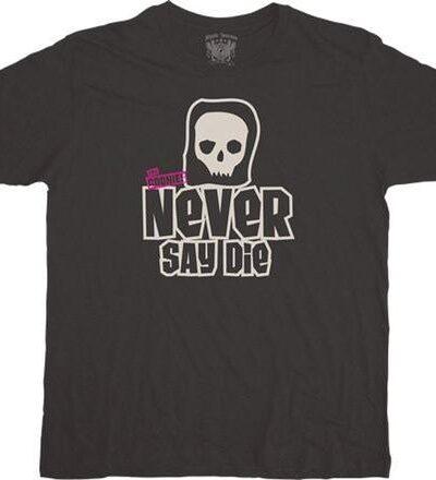 Never Say Die Simple Skull T-shirt