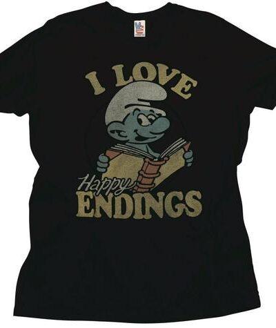 Papa Smurf I Love Happy Endings T-Shirt