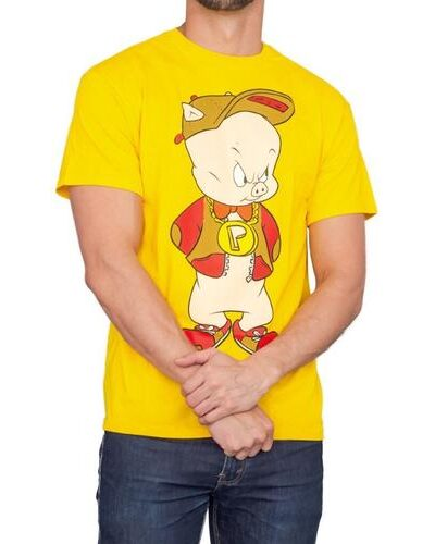 Porky Pig Front and Back Adult T-Shirt