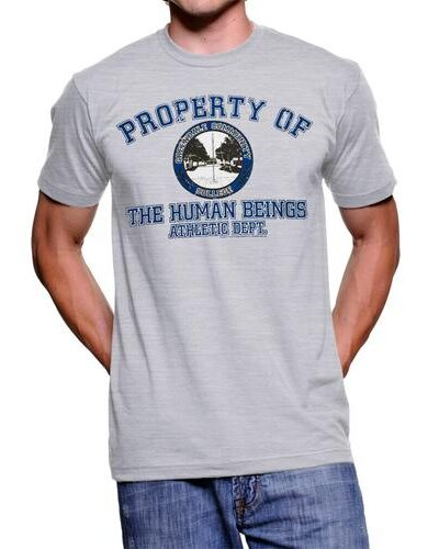 Property of The Human Beings Atheltic Dept. Mens T-shirt
