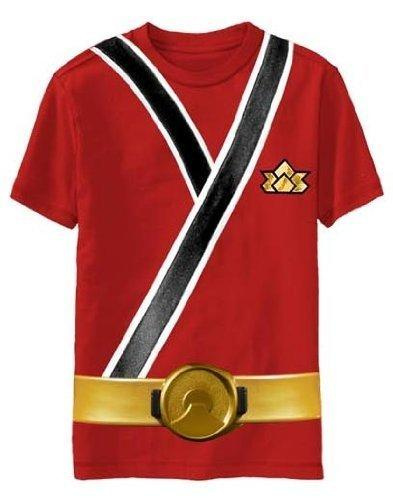 Red Samurai Ranger Uniform Monster T-shirt