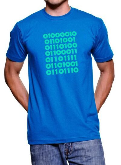 Silicon Valley Bitcoin in Binary T-shirt