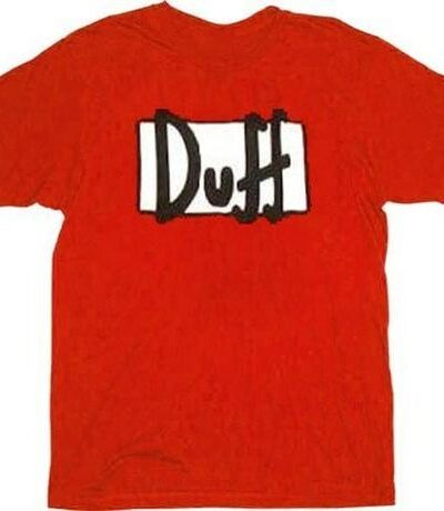 Simpsons Duff Beer Red T-shirt