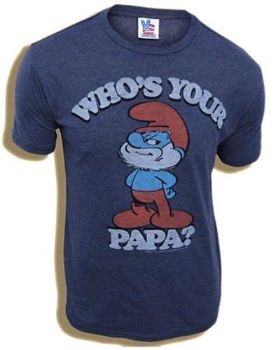 Smurfs Papa Smurf Who's Your Papa T-shirt
