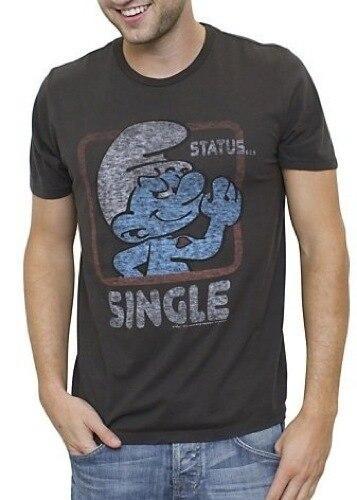 Smurfs Status Single Vintage Inspired T-shirt