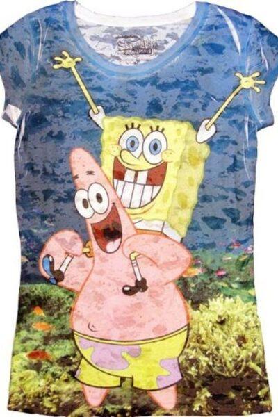 Spongebob SquarePants Underwater Bob With Patrick Sublimation T-shirt