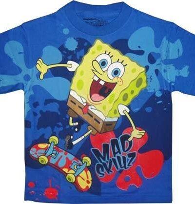 Spongebob Squarepants Mad Skillz Graphic T-shirt