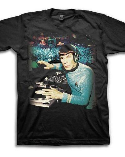 Star Trek DJ Spock Adult Black T-Shirt