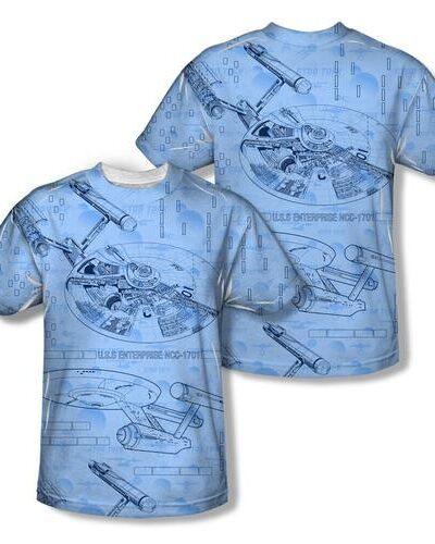 Star Trek U.S.S Enterprise NCC-1701 Sublimation T-Shirt