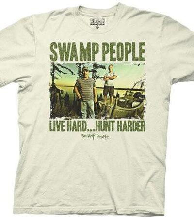Swamp People Live Hard…Hunt Harder T-shirt