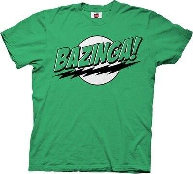 The Big Bang Theory Bazinga! Green or Blue T-shirt