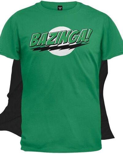 The Big Bang Theory Bazinga! T-shirt with Attachable Cape