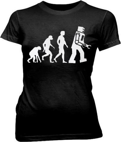 The Big Bang Theory Robot Evolution T-shirt