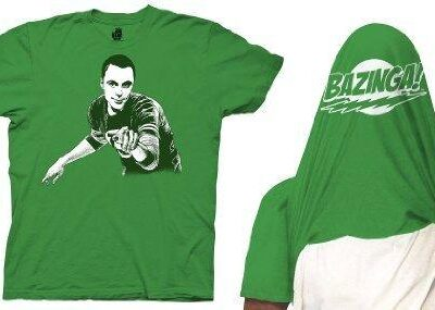 The Big Bang Theory Sheldon Cooper Bazinga Flip T-shirt