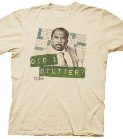 The Office Did I Stutter Stanley Beige T-shirt