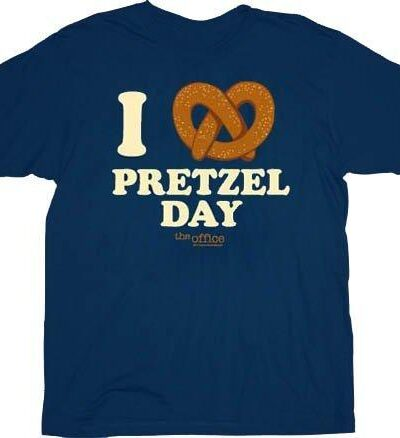 The Office I Heart Love Pretzel Day T-Shirt