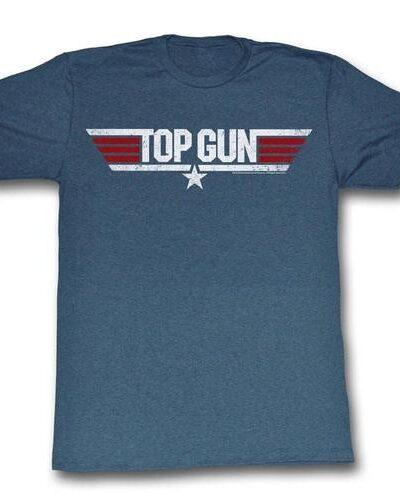 Top Gun Logo Heather Navy