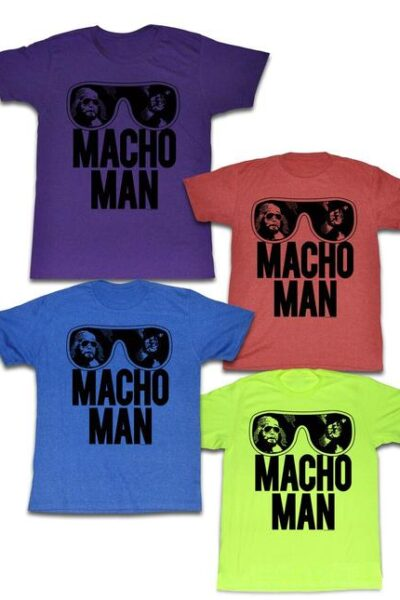 WWE Old School Macho Man Glasses T-Shirt
