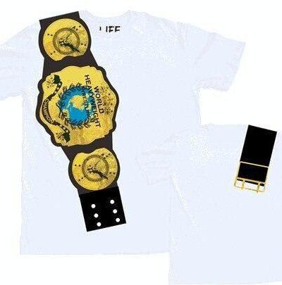 World Heavyweight Champion Belt on Shoulder T-shirt