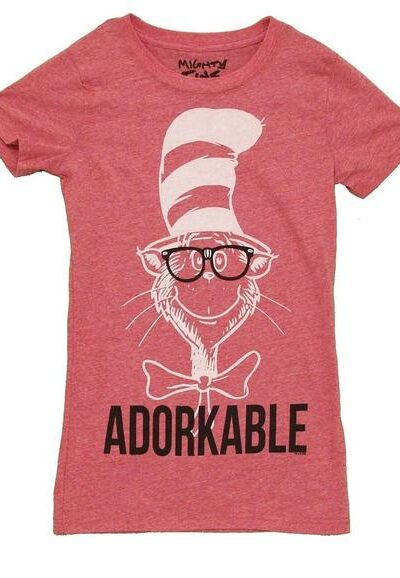 Adorkable Cat in the Hat Juniors T-shirt