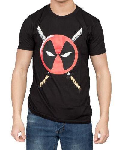 Deadpool Icon Logo and Swords