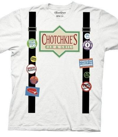 Office Space Chotchkie's Bar & Grill Suspenders Costume T-shirt