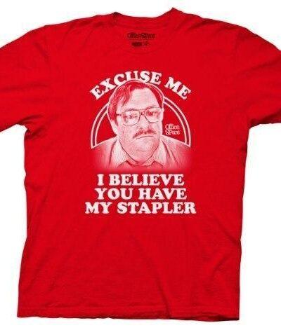 Office Space Milton Waddams Image Stapler T-shirt