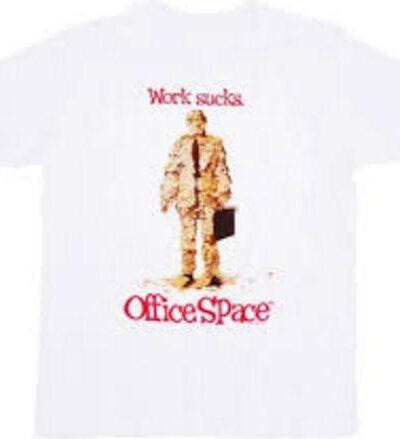 Office Space Work Sucks Memo T-shirt